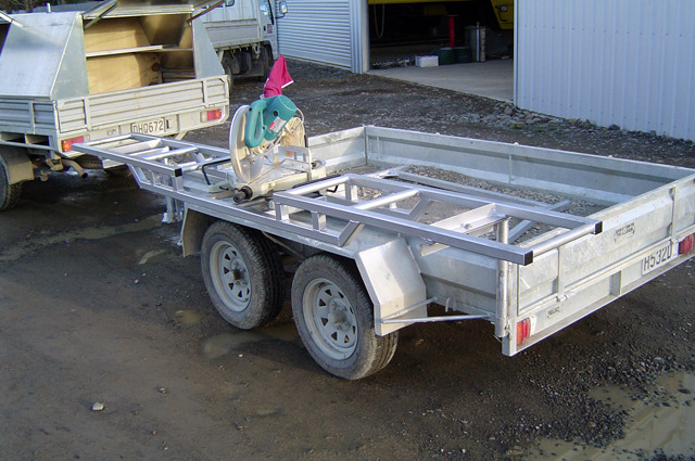 Custom Trailer Saw Bench